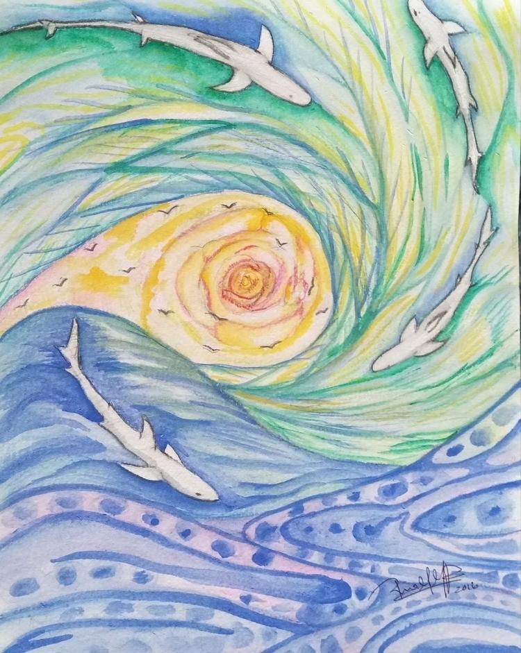 Float symbolism fear - watercolor - rinamr | ello