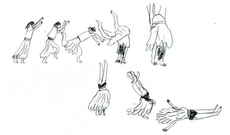 drawing - KC, handstand, flow - kaysee | ello