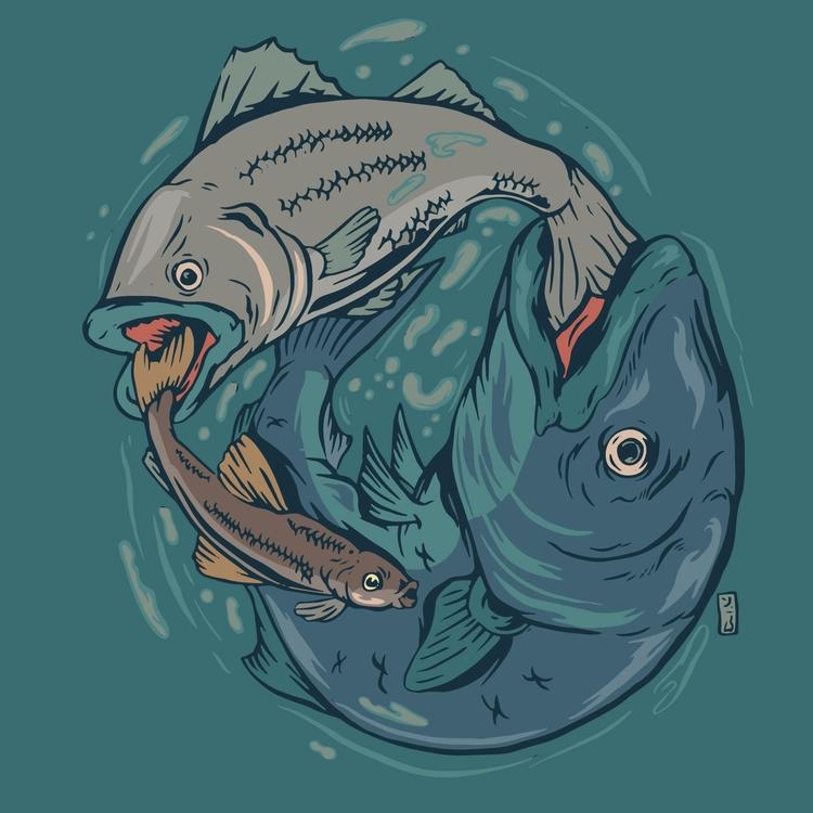 Bigger Fish - illustration - thomcat23 | ello