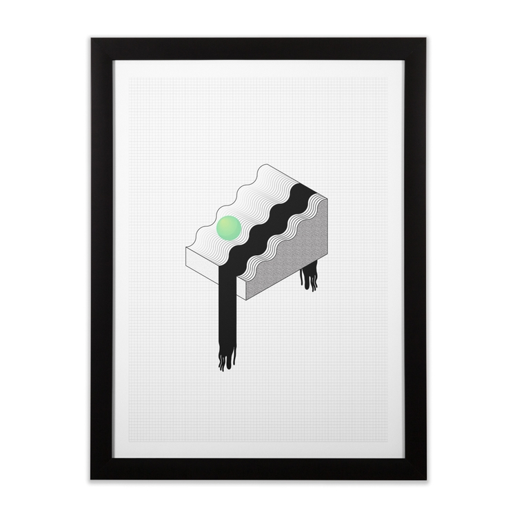 added Slippery Slope art print  - uinnseann | ello