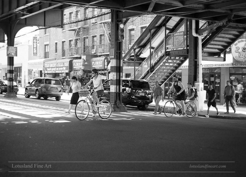 Cycling street Astoria, Queens - wlotus | ello