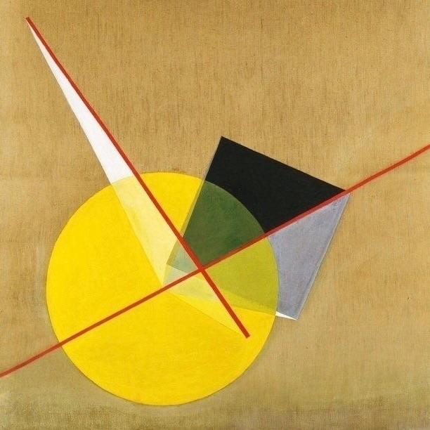 László Moholy-Nagy 1921 - Yellow - bauhaus-movement | ello