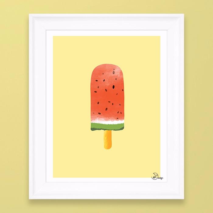 Watermelon Popsicle Cold popsic - designdn | ello