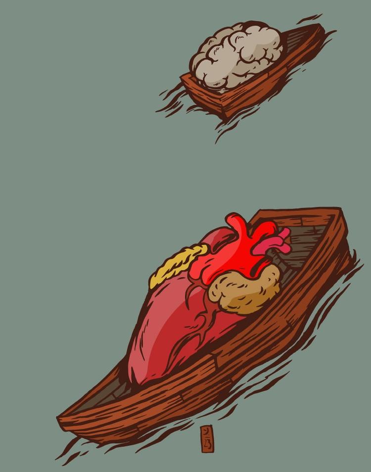 Drifting - illustration - thomcat23 | ello