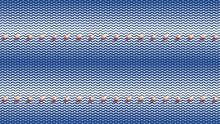 Buoys water. Seamless repeatabl - prunelka | ello