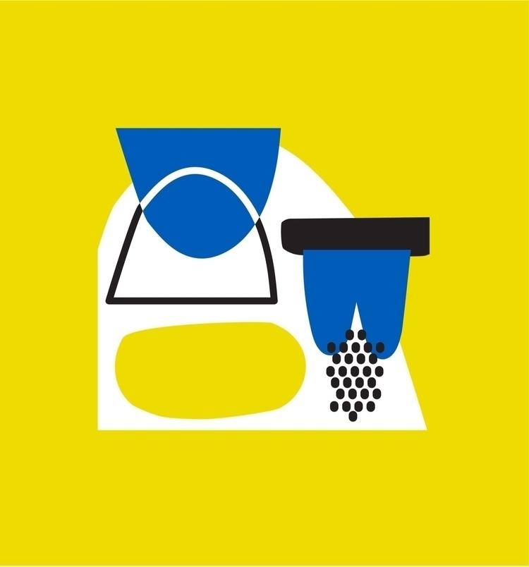 Abstract Island flow LOU | - illustration - holalou | ello