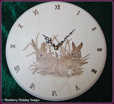 Sycamore clock rabbits £29.95 - blackberryro | ello