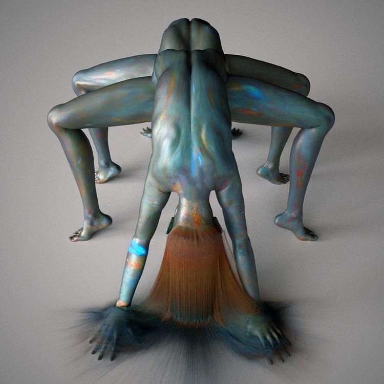 Spider Web - 3d, digital, art - z3rogravity | ello