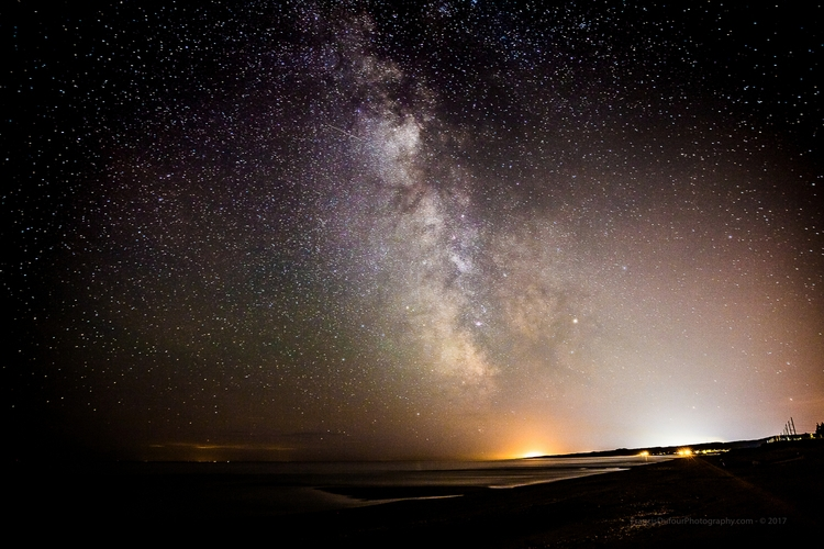 Magical night sky hometown Late - francisdufour | ello
