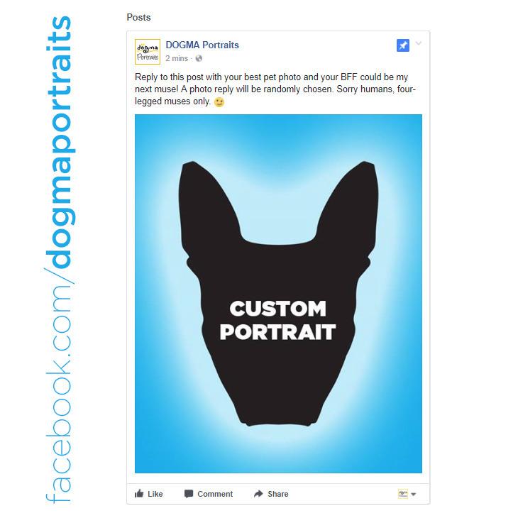Reply Facebook post pet photo B - dogmaportraits | ello