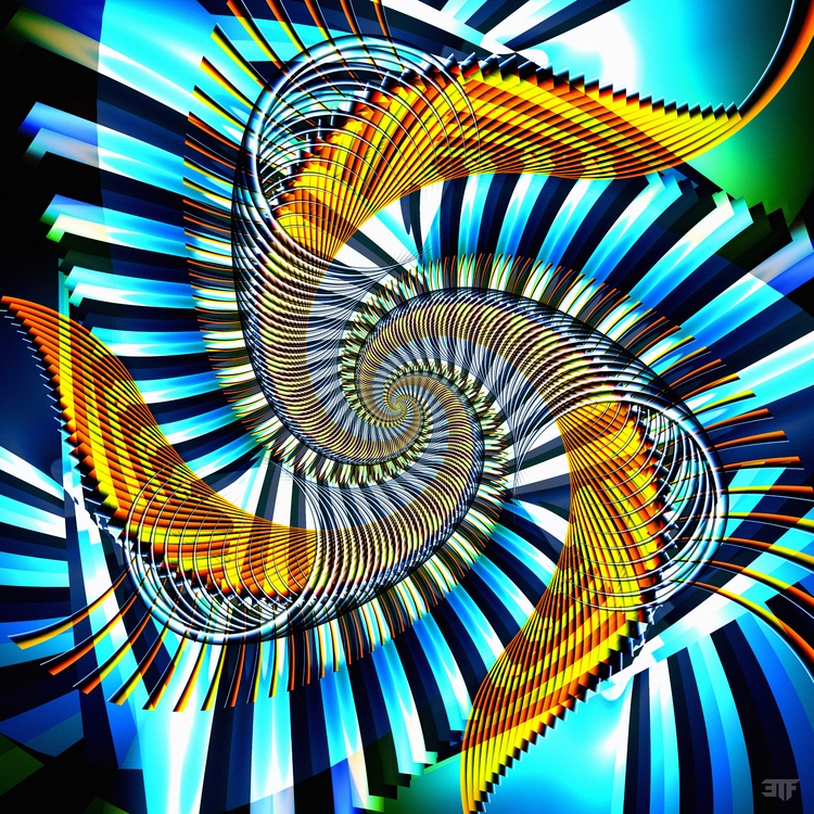 fractal, ultrafractal, spiral - 3tonfeather | ello