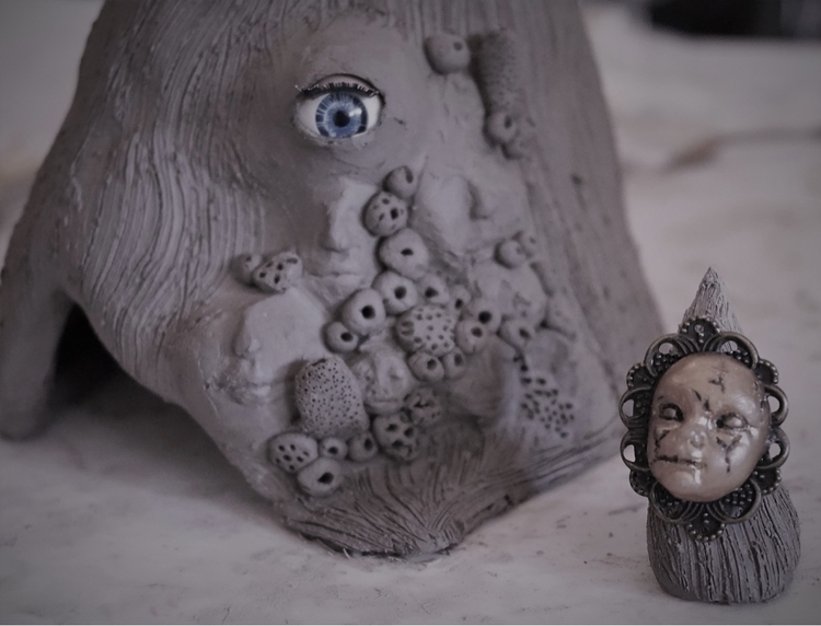 air dry clay sculpture spam - airdryclay - zombiebaby | ello