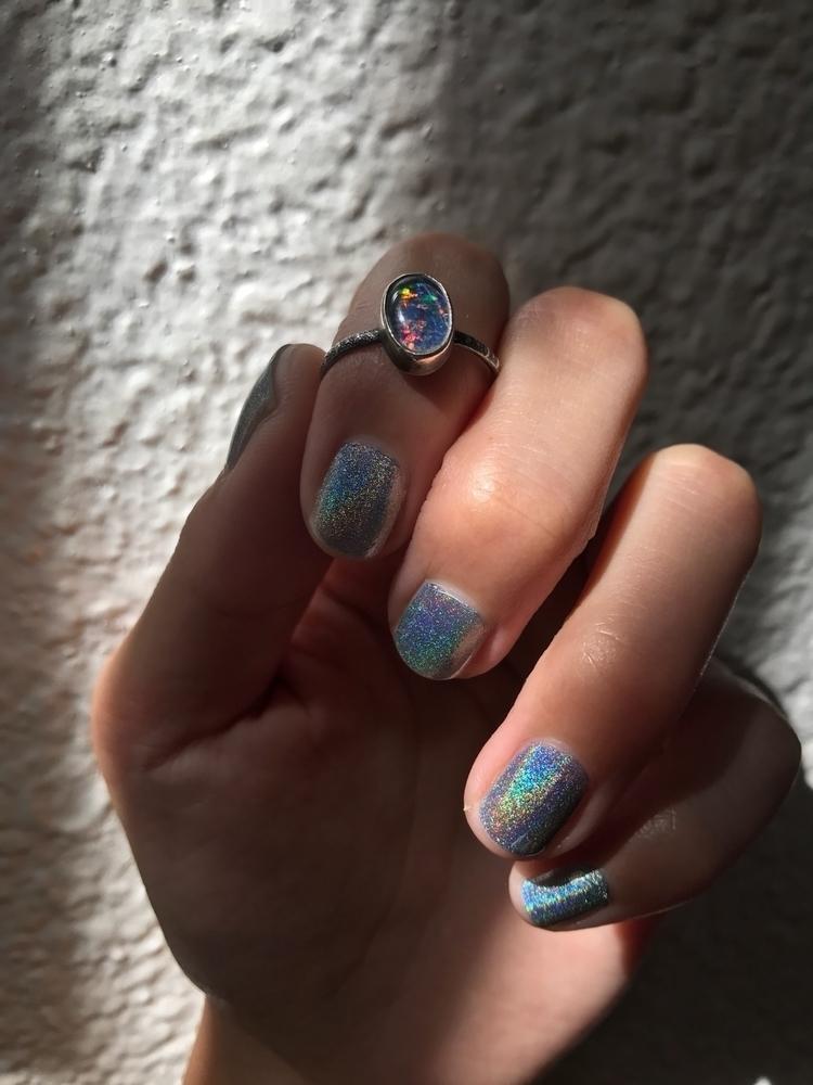 Fiery Australian opal ring list - nightsunjewelry | ello