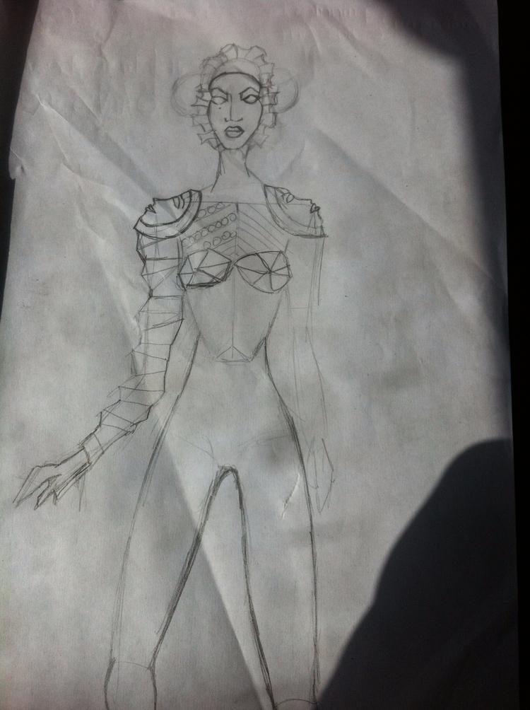 wrinkled sketches - costume, fashion - violetadada | ello