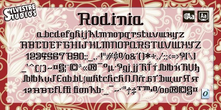 Rodinia (Opentype/Truetype/Web  - micksylvestre | ello