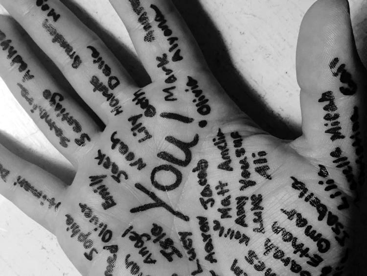 written palms hands. Isaiah 49 - daveandmia | ello