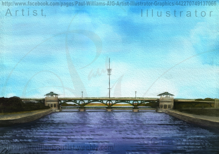 Tees Barrage Painted September  - paul_williams_aig | ello