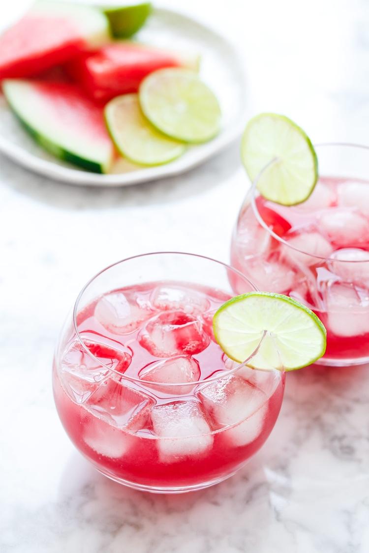 Hibiscus Watermelon Agua Fresca - loveandoliveoil | ello