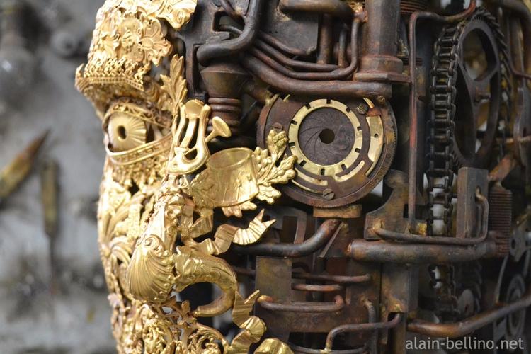 Detail Number head bronze antiq - alain-bellino | ello
