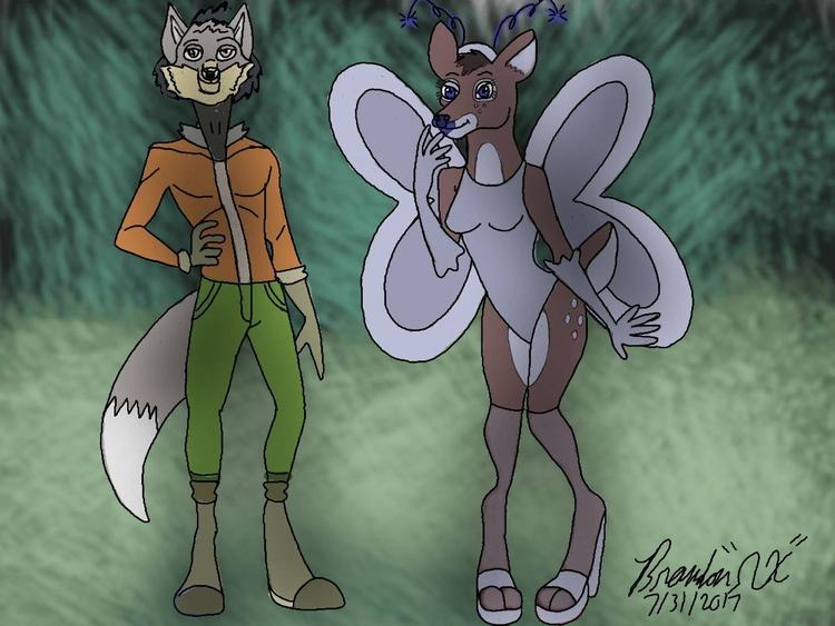 Lupo Gray Wolf Dieryana Deer - Zoomanity - brandon_omega-x | ello