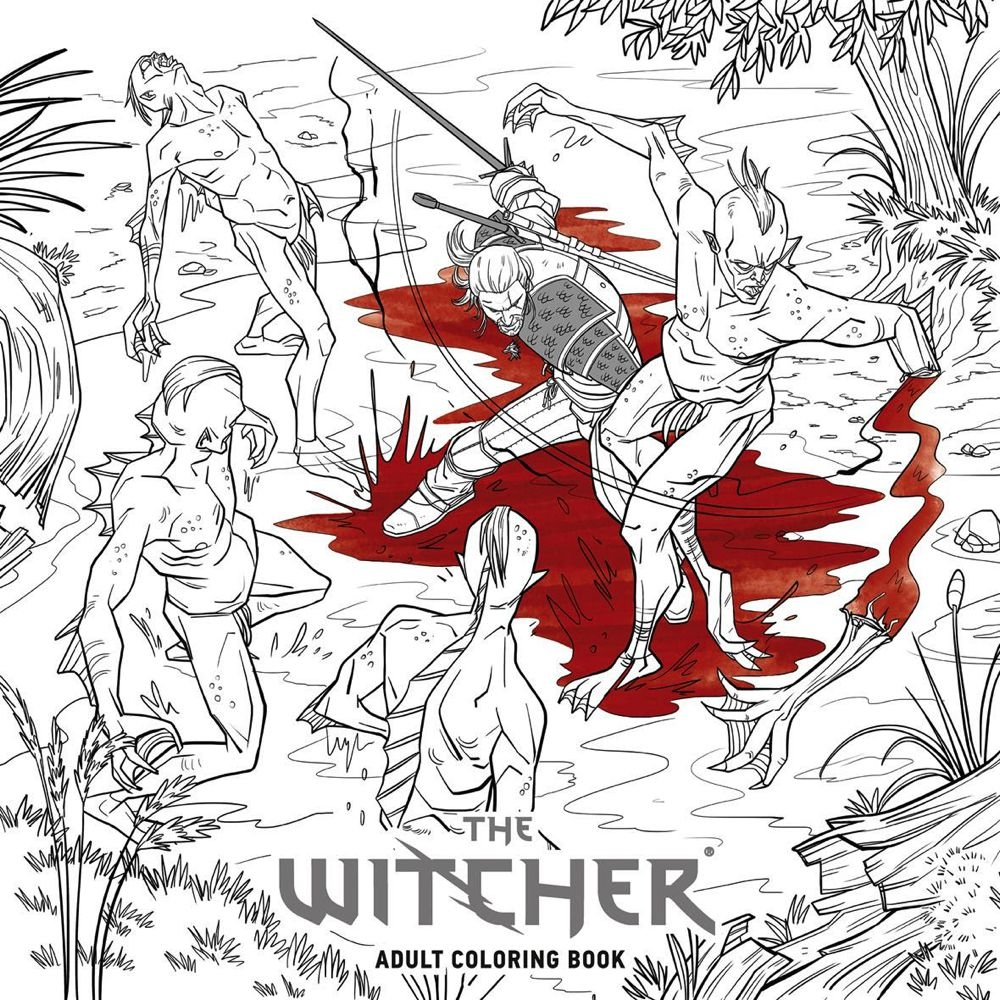 Witcher Adult Coloring Book Jou - comicbuzz | ello
