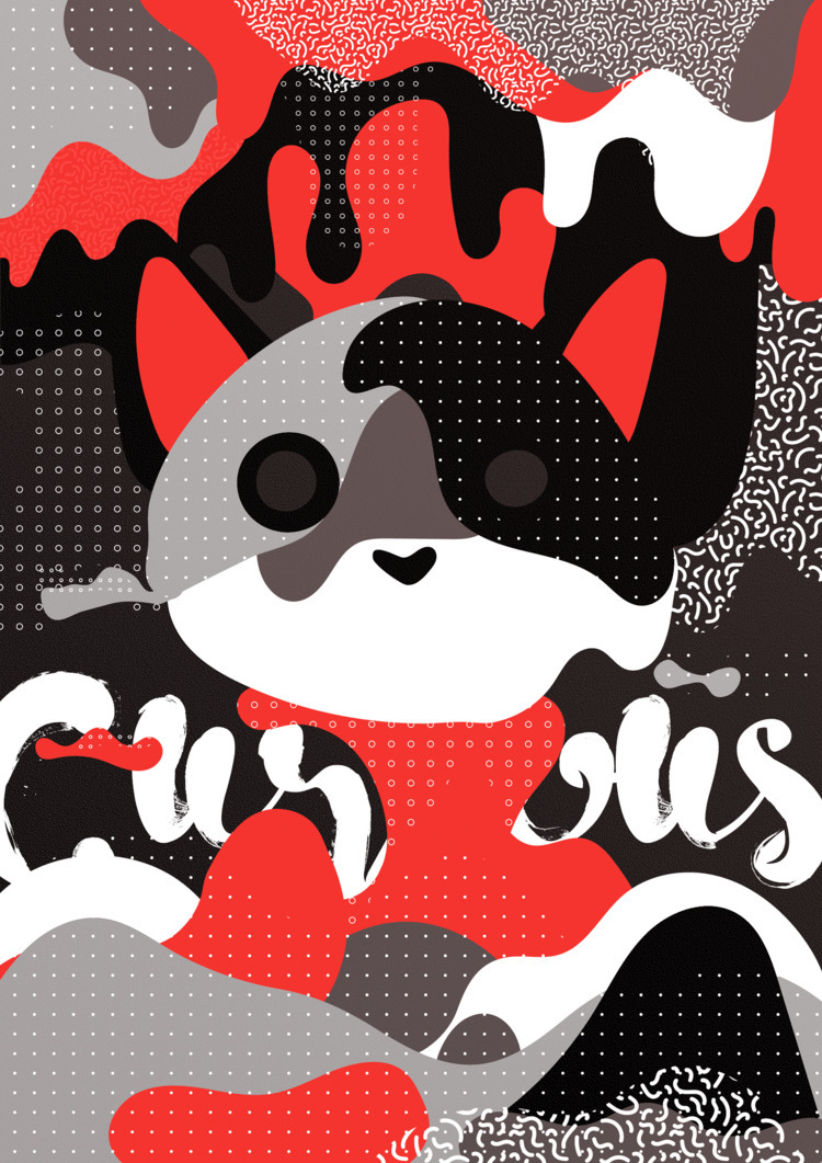 Curious. 43 - 365, design, poster - theradya | ello