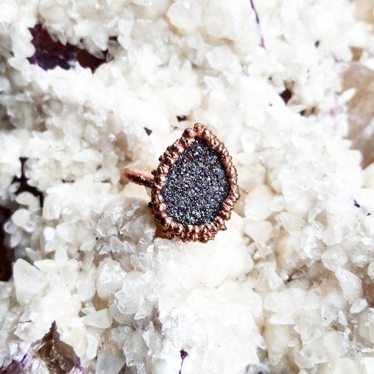 druzy, elloelectroforming, copperjewelry - gypsyhollow | ello