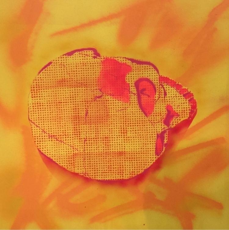 Cranium VIII (detail), 90x90cm - cicerospin | ello