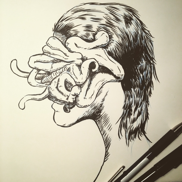 drawing - drawings, donorbrain, latenightsessions - donorbrain   ello