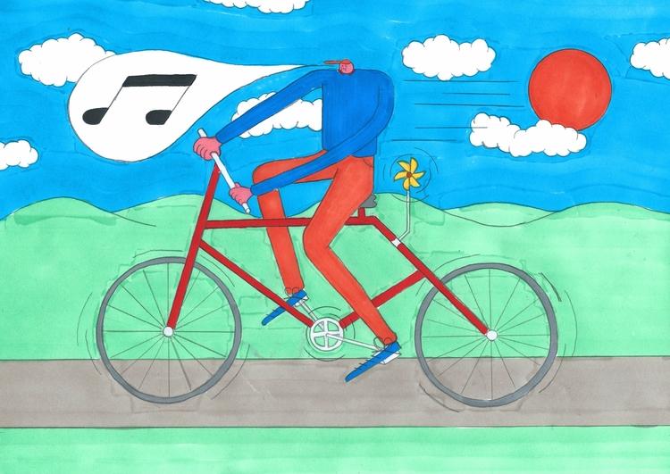 Ridin - illustration, graphicdesign - molonom | ello