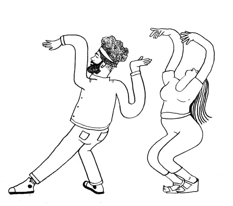 Dancing weekend - sketchbook, illustrator - rymie | ello