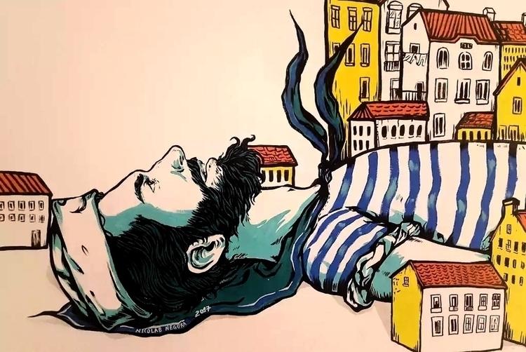 Lost - Mural Dos Fidalgos, beau - nicolaenegura | ello