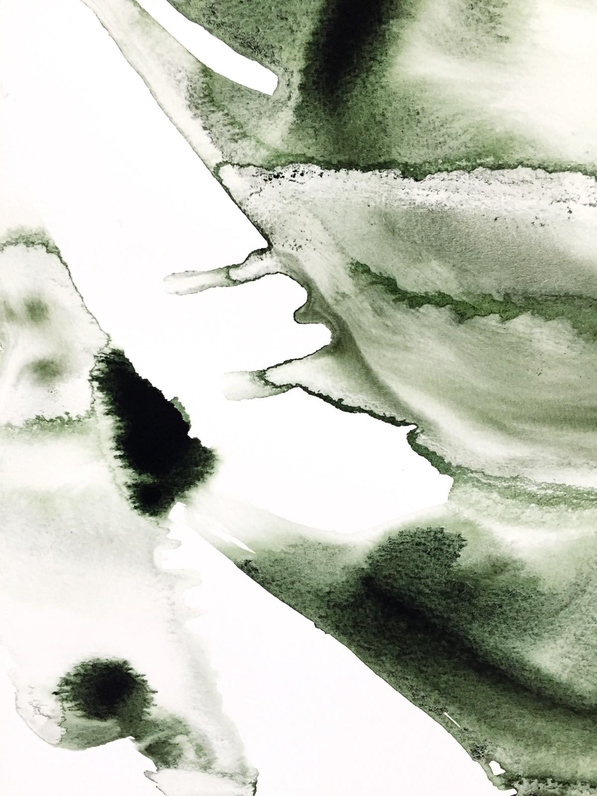Sculptural watercolor. / 18x24 - ebw_artwork | ello