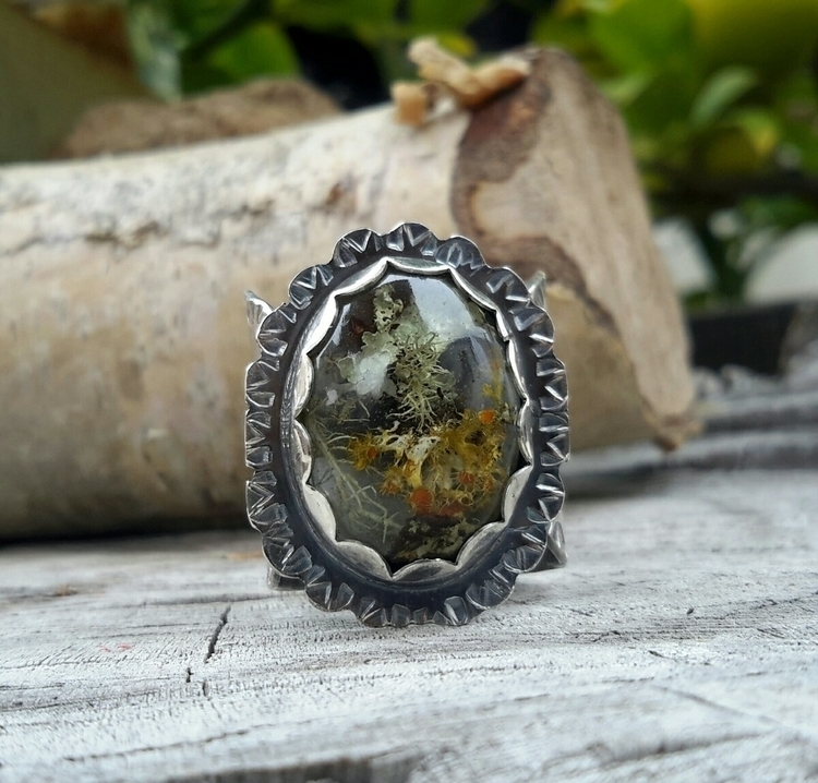 Nature ring lichen hand stamped - dangbravegirl | ello