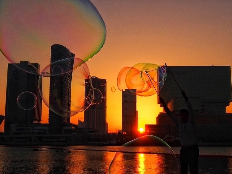 Travel sunset - Abudhabi, UAE, bubblesnotwar - kyphotos | ello