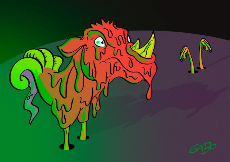 illustration, digitalart, psychedelic - gabo_jurgensen | ello