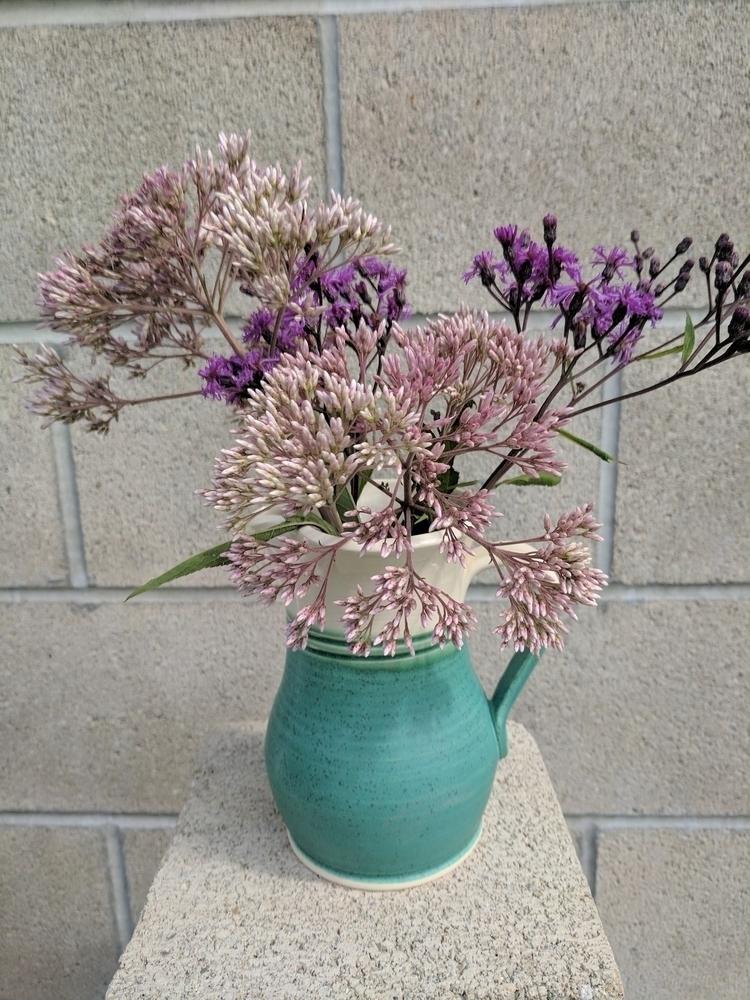 Wild flowers COASTAL pitcher - hillippieclayco   ello