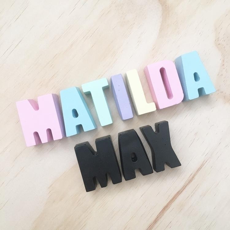 Concrete letters Matilda pastel - soilamore | ello