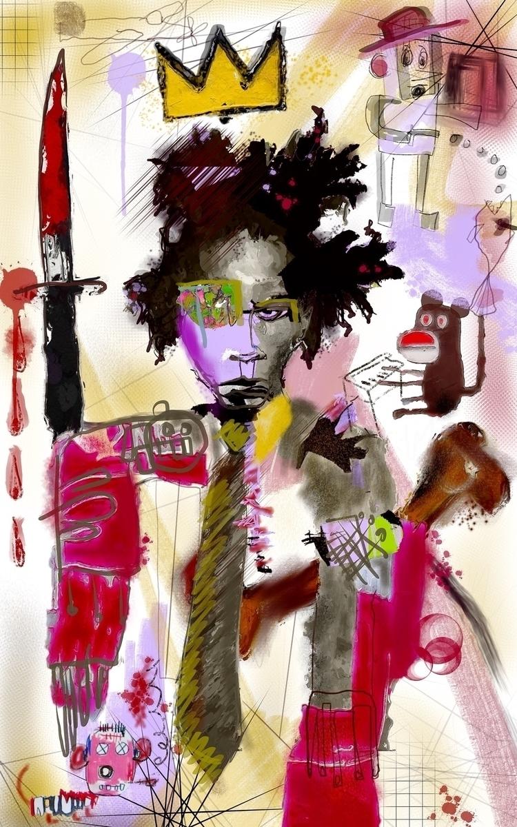 'Basquiat - elloart, elloillustration - inkycubans | ello