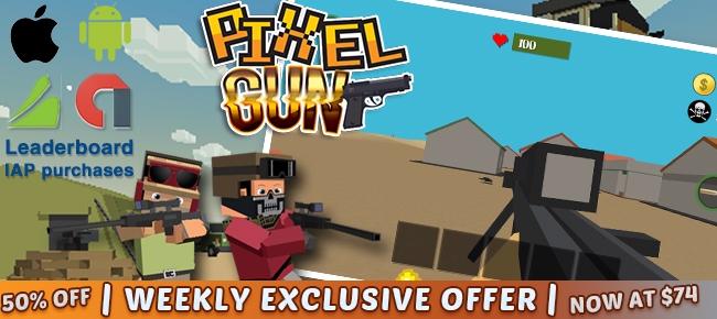 Pixel Gun 3D MMO PIXEL SHOOTER  - appngamereskin | ello