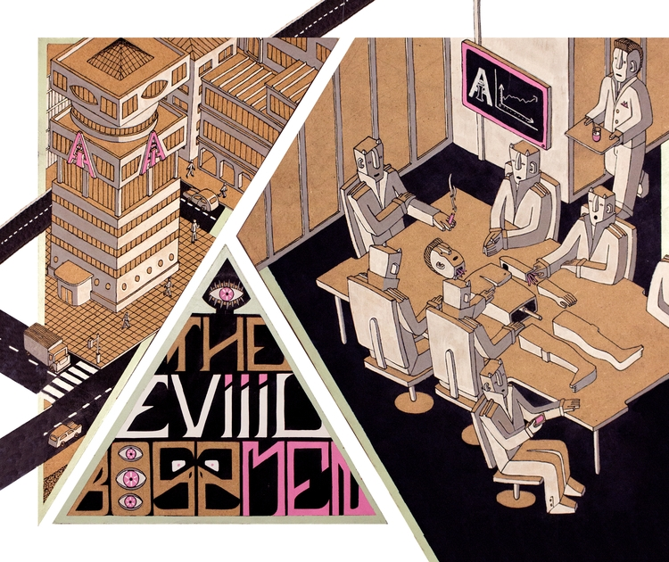 evil, bossmen, illustration, posca - tomrouleau | ello