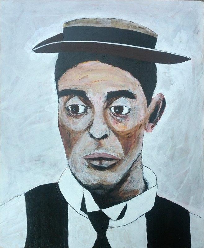 Buster Keaton 2017, latex hardb - artchrisdale | ello