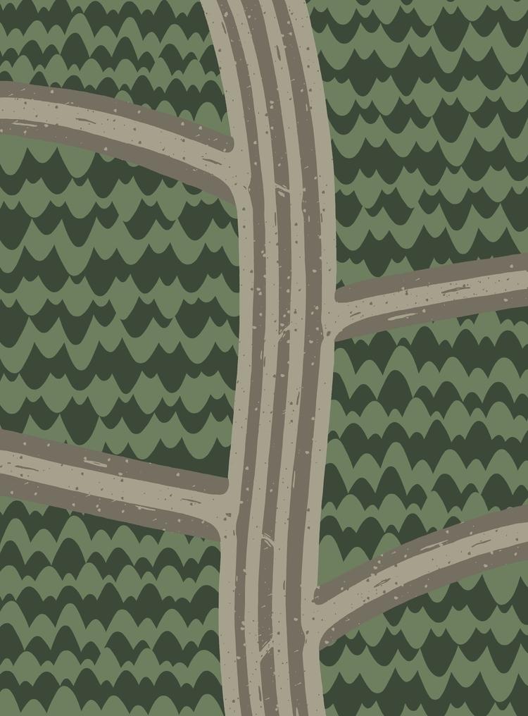 BACKROADS curve hand - illustration - angchor | ello