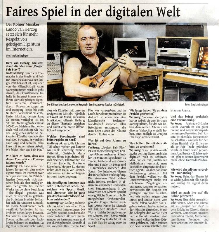 Westdeutsche Zeitung aktuell - projectfairplay | ello