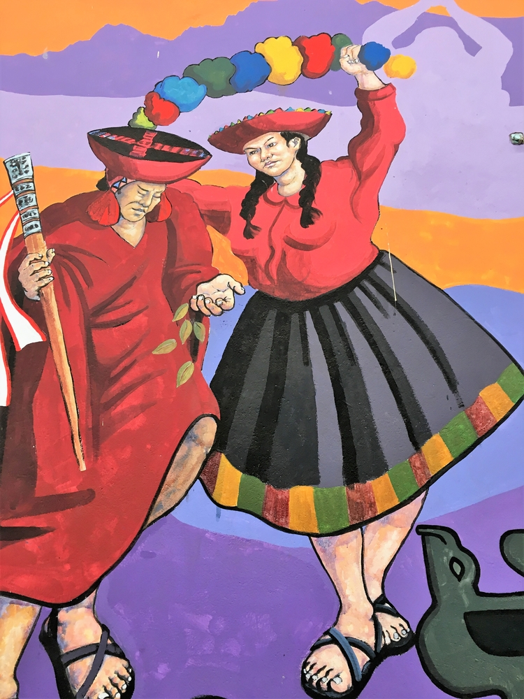 Peru, Cusco, mural, Quechua, hatun - hatun | ello