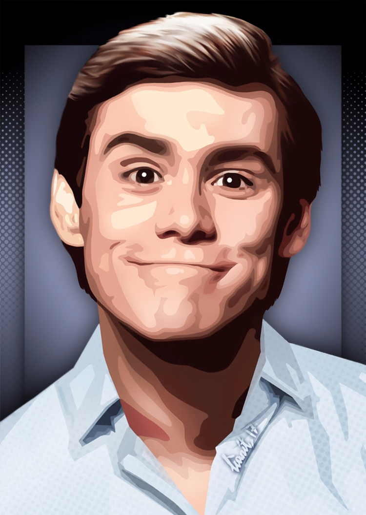 JimCarrey, digitalart, digitalpainting - lianit | ello