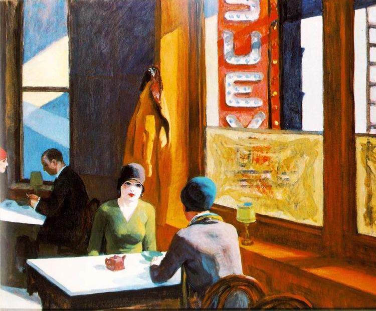 Chop Suey, 1929 Edward Hopper - leopercepied_ | ello