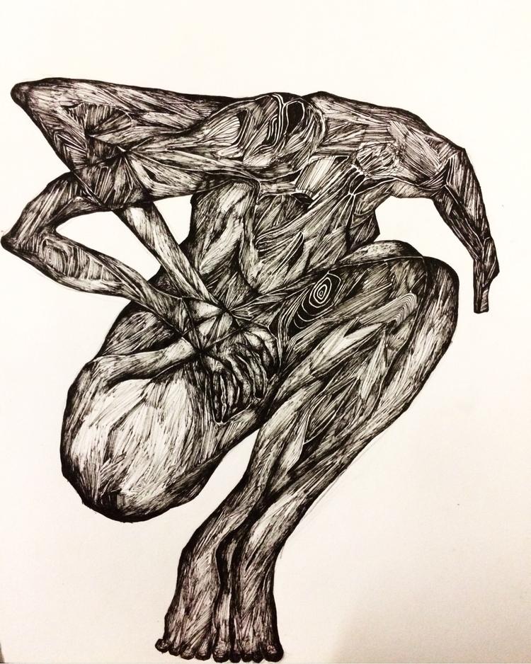 Title: jitters - pen, drawing, sketch - jacobbayneartist | ello