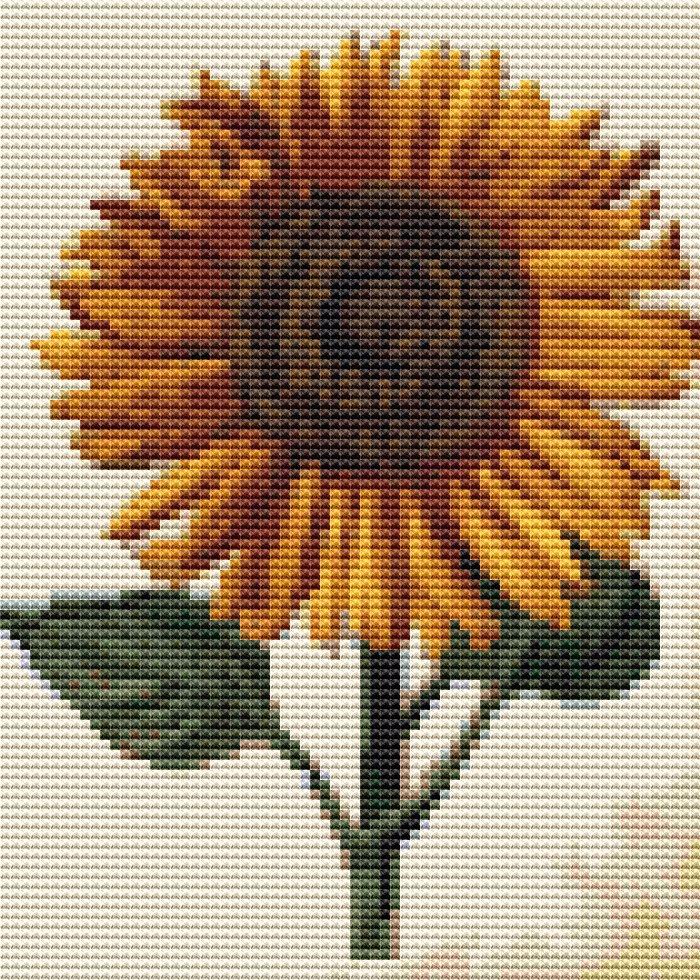 Sunflower Mini Cross Stitch - sunflower - theartofstitch | ello