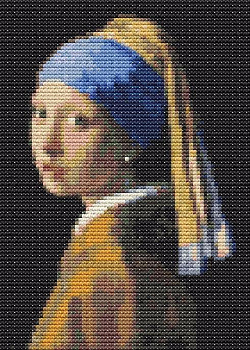 Girl Pearl Earring Mini Cross S - theartofstitch | ello